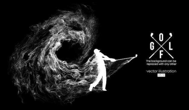 Abstract silhouet van een golfspelerillustratie