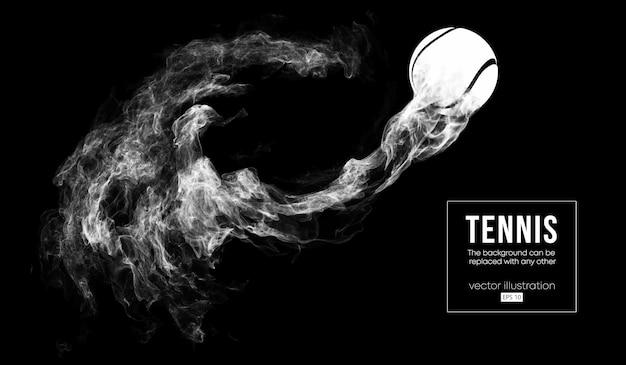 Abstract silhouet van een illustratie van de tennisbal