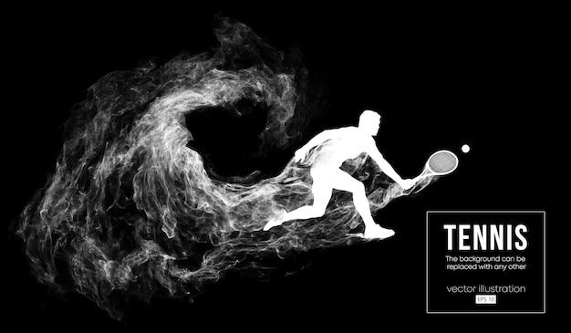 Abstract silhouet van een man tennisser