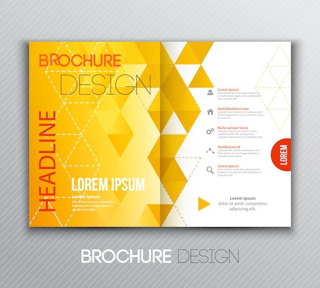Abstract sjabloon brochureontwerp met geometrische achtergrond