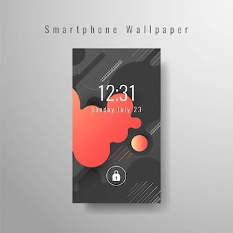 Abstract smartphonebehang futuristisch ontwerp