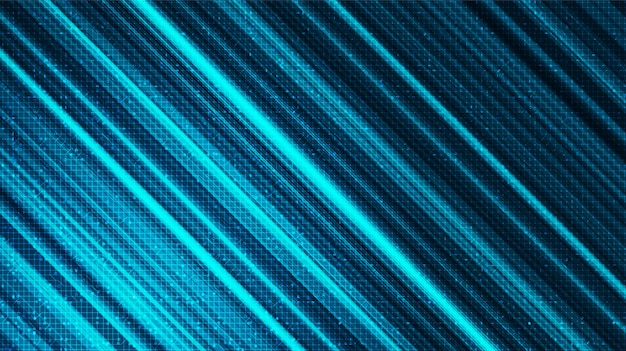 Abstract snelheidslicht op technische achtergrond