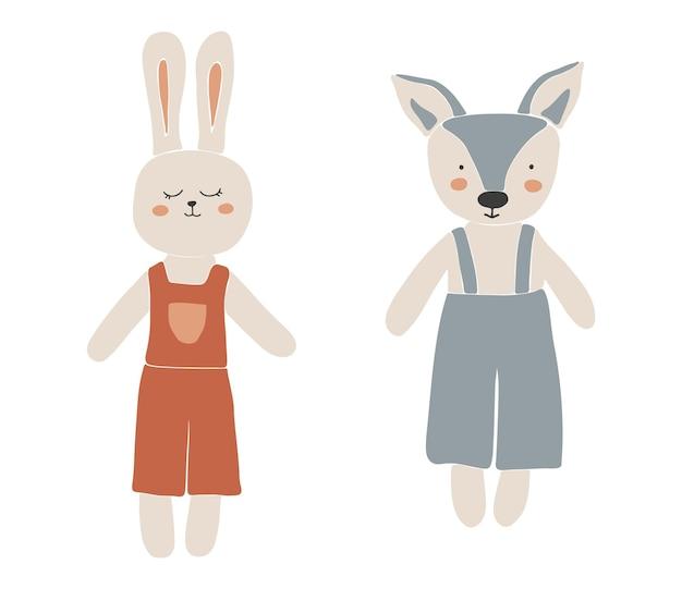 Abstract speelgoed voor kinderen speelgoed geïsoleerde illustratie