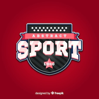 Abstract sport logo sjabloon