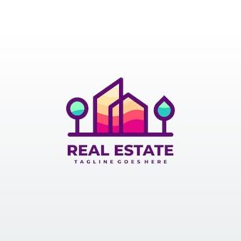 Abstract stad gebouw logo ontwerpconcept