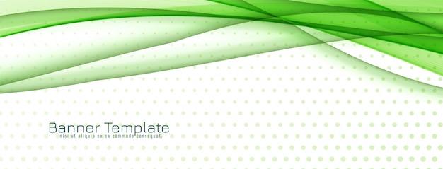 Abstract stijlvol groen golfbannerontwerp