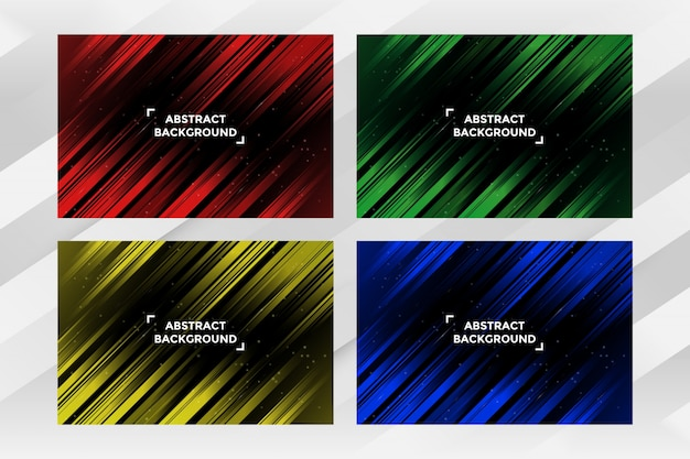 Abstract streep achtergrondmalplaatjepak