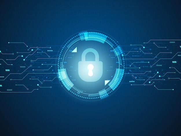 Abstract technologie achtergrond cyberveiligheidsconcept