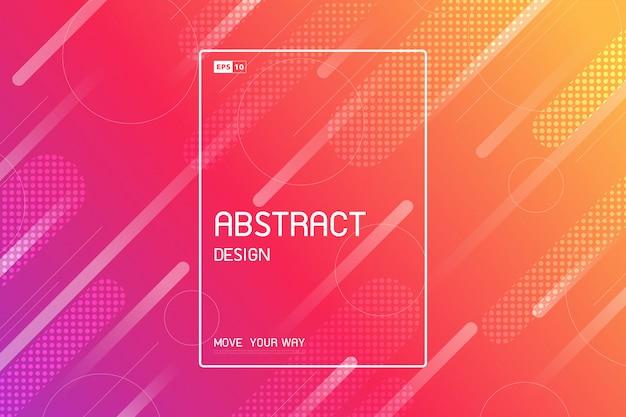 Abstract technologie-ontwerp van trendy het kunstwerkachtergrond van streeplijnen.