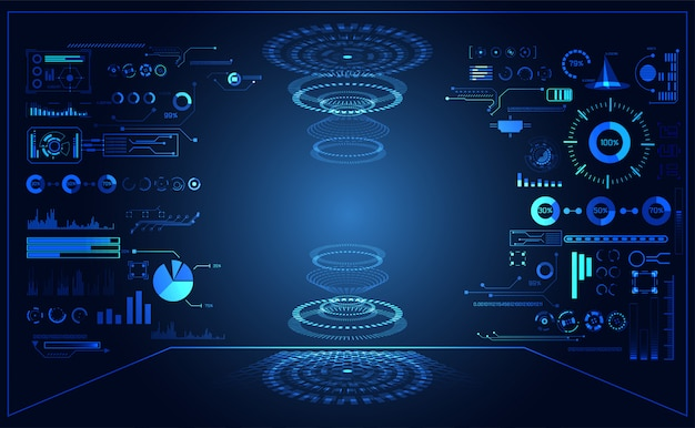 Abstract technologie ui futuristisch concept hud interface hologram