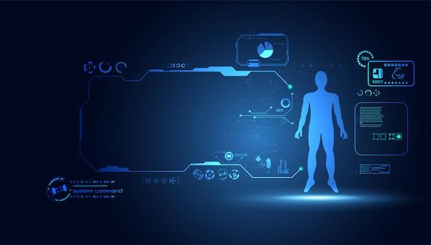 Abstract technologie wetenschap menselijke data gezondheid digitaal