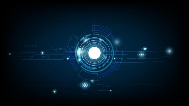 Abstract technologiecirkel digitaal hi-tech technologieontwerp.