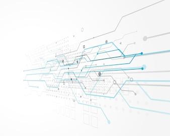 Abstract technologieconceptontwerp met draadnetwerk
