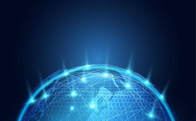 Abstract technologiewereldnetwerk