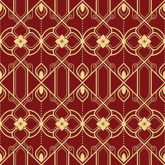 Abstract thais geometrisch naadloos lijnpatroon
