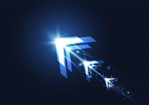 Abstract toekomstig digitaal snelheidstechnologieconcept