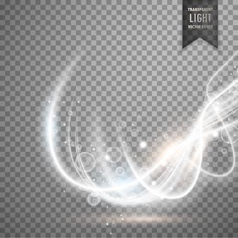 Abstract transparant wit licht effect vector achtergrond
