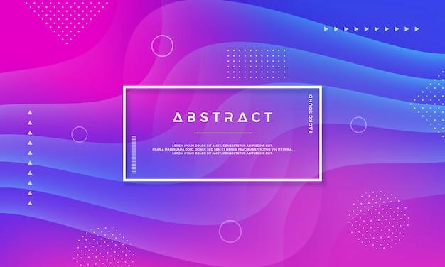 Abstract trendy dynamisch kleurenontwerp als achtergrond.