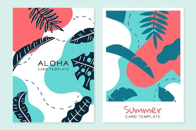 Abstract tropisch kaartenconcept