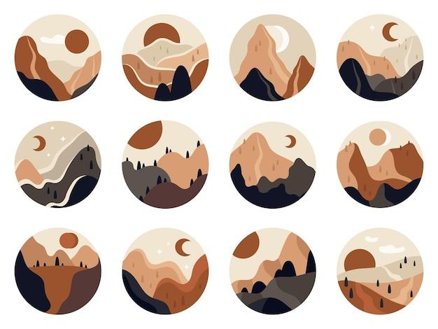Abstract uitzicht op de bergen
