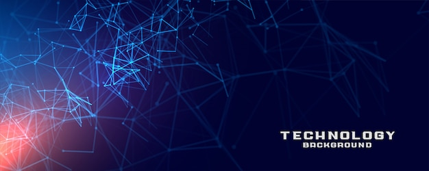 Abstract van het het netwerkconcept van het technologienetwerk de bannerontwerp als achtergrond