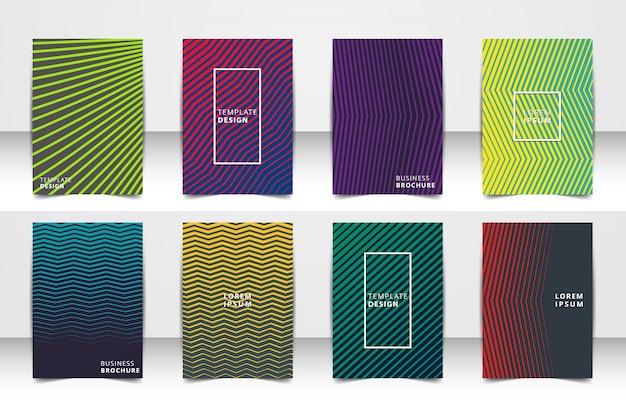 Abstract vector lay-out achtergrond set. voor kunst sjabloonontwerp, lijst, voorpagina, mockup brochure themastijl, banner, idee, omslag, boekje, afdrukken, flyer, boek, blanco, kaart, advertentie, teken, blad, a4.