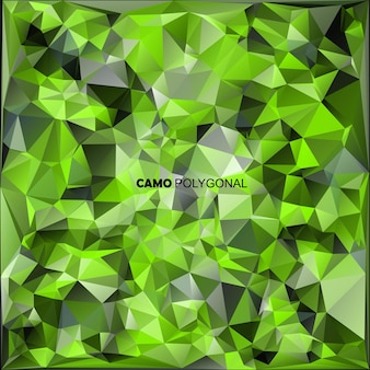 Abstract vector militaire camouflage achtergrond gemaakt van geometrische driehoeken vormen. vector illustratie.