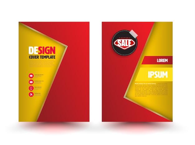 Abstract vector moderne flyer brochure ontwerpsjablonen