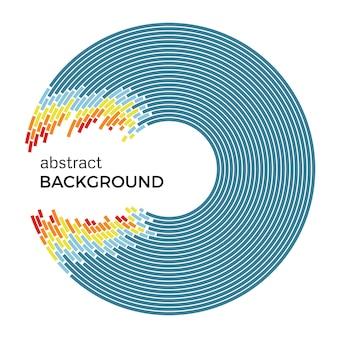 Abstract vectorillustratie beeltenis van gekleurde cirkels op een witte achtergrond. infographic achtergrond met plaats voor uw tekst.