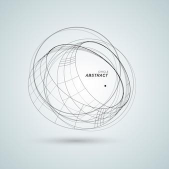 Abstract verbind cirkel ontwerp achtergrond