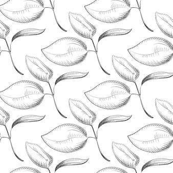 Abstract verlaat naadloos patroon. ontwerp voor stof, verpakking,