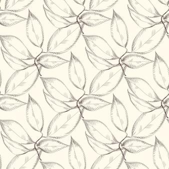 Abstract verlaat naadloos patroon. ontwerp voor stof,