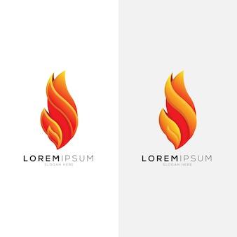 Abstract verloop vlam logo