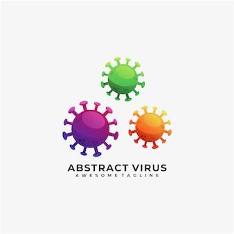 Abstract virus illustratie logo ontwerp kleurrijk