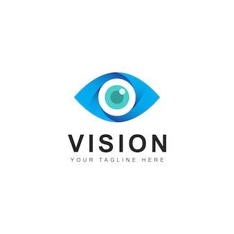 Abstract visie logo ontwerp