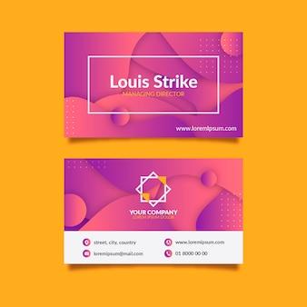 Abstract visitekaartje met contactgegevens