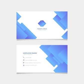 Abstract visitekaartje met vierkanten
