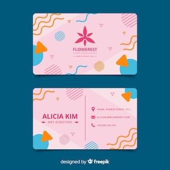 Abstract visitekaartje