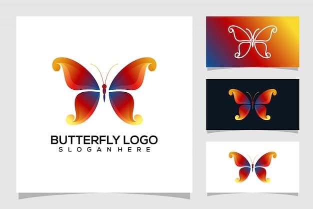 Abstract vlinder logo