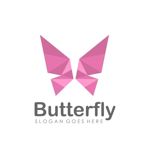 Abstract vlinderlogo ontwerp