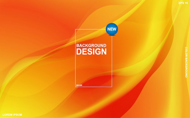 Abstract vloeibaar thema als achtergrond met oranje sunsite kleur. moderne minimale eps 10