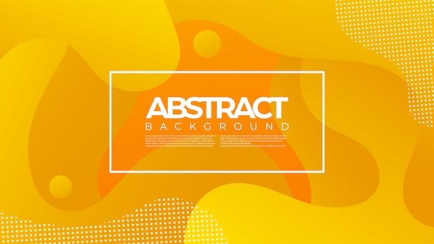 Abstract vloeibaar vloeibaar achtergrondontwerp met oranje kleur
