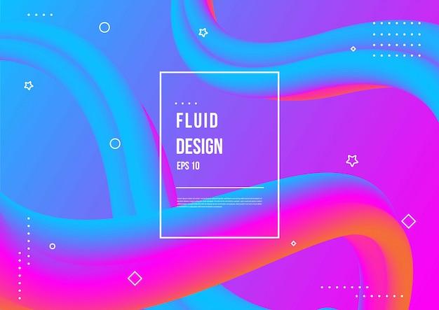 Abstract vloeiend kleurenpatroon met moderne geometrische dynamische motiestijl