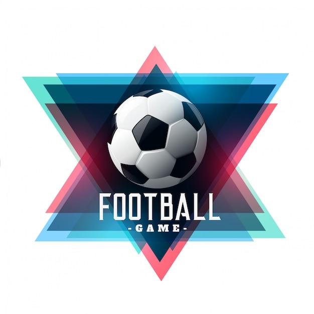 Abstract voetbal voetbal achtergrondontwerp