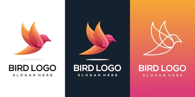 Abstract vogel logo