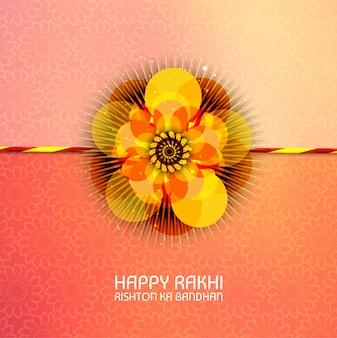Abstract voor happy raksha bandhan