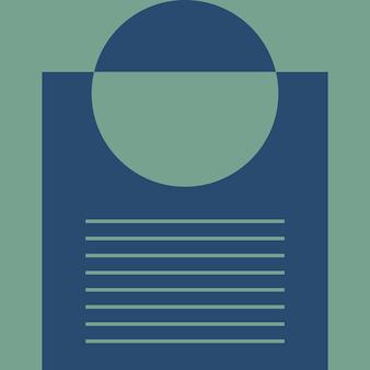 Abstract, vormen, groene munt, marineblauw behang achtergrond vectorillustratie