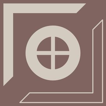 Abstract, vormen, taupe, cognac behang achtergrond vectorillustratie
