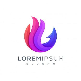 Abstract vos logo-ontwerp klaar voor gebruik