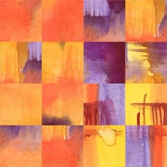 Abstract waterverf naadloos patroon